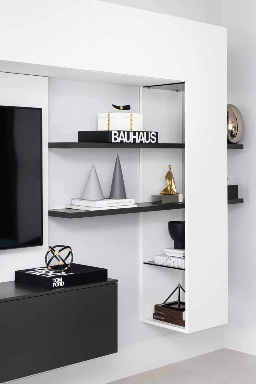 Custom wall hung TV Unit - Wimbledon
